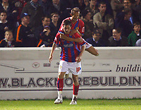 Ben Strevens. ( Dag ). Celebrates his Goal  Dagenham and Redbridge v Barnet at Victoria Road Stadium  Dagenham Coca Cola Division Two 10/10/2008<br /> Credit Colorsport / Kieran Galvin