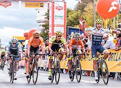 08.07.2019, Wiener Neustadt, AUT, Ö-Tour, Österreich Radrundfahrt, 2. Etappe, von Zwettl nach Wiener Neustadt (176,9 km), im Bild v.l.: Jonas Koch (CCC Team, GER), Jannik Steimle (Team Vorarlberg Santic, GER), Emils Liepins (Wallonie Bruxelles, FRA), Tom Devriendt (Wanty Groupe Gobert, BEL) // during 2nd stage from Zwettl to Wiener Neustadt (176,9 km) of the 2019 Tour of Austria. Wiener Neustadt, Austria on 2019/07/08. EXPA Pictures © 2019, PhotoCredit: EXPA/ JFK
