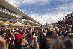 October 21, 2018 - Austin, USA - Fans and racing crews crowd the pit area following the Formula 1 U.S. Grand Prix at the Circuit of the Americas in Austin, Texas on Sunday, Oct. 21, 2018. (Credit Image: © Scott Coleman/ZUMA Wire)