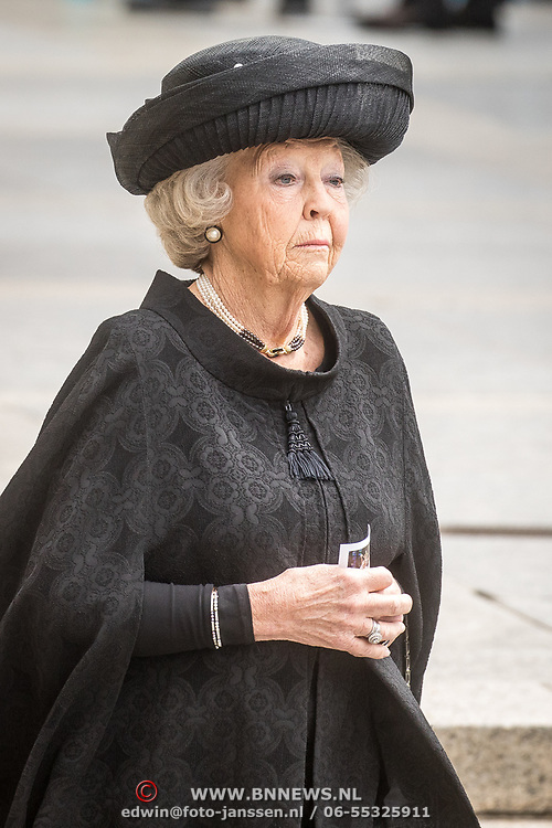 LUX/Luxemburg/20190504 - Funeral of HRH Grand Duke Jean/Uitvaart Groothertog Jean, Prinses Beatrix