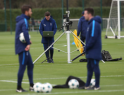 31 October 2017 Enfield: Tottenham Hotspur FC Training - staff monitor the training via a laptop.<br /> <br /> Photo: Mark Leech