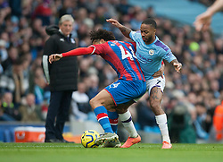 Jairo Riedewald of Crystal Palace (L) and Raheem Sterling of Manchester City in action - Mandatory by-line: Jack Phillips/JMP - 18/01/2020 - FOOTBALL - Etihad Stadium - Manchester, England - Manchester City v Crystal Palace - English Premier League