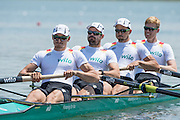 Varese. ITALY. GER M4-, Bow, WEISSENFELD, Johannes, WIMBERGER, Felix, PLANER, Maximilian, KORGE, Maximilian.   2015 FISA World Cup II Venue Lake Varese. Friday  19/06/2015 [Mandatory Credit: Peter Spurrier/Intersport images] .   Empacher.