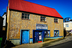 Frontage of Tarbert Stores, Tarbert, isle of harris, Outer Hebrides, Scotland<br /> <br /> (c) Andrew Wilson | Edinburgh Elite media