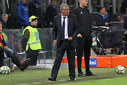 November 17, 2018 - Milan, Lombardia, Italy - Fernando Santos, head coach of Portugal, during the Nations League football match between Italy and Portugal at Stadio Giuseppe Meazza on November 17, 2018 in Milan Italy..Final results: 0-0. (Credit Image: © Massimiliano Ferraro/NurPhoto via ZUMA Press)