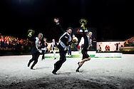 Lap of Honour Vaulting Pas de Deux - Pas de Deux Vaulting Round 2 - Alltech FEI World Equestrian Games&trade; 2014 - Normandy, France.<br /> &copy; Hippo Foto Team - Jon Stroud<br /> 05/09/2014