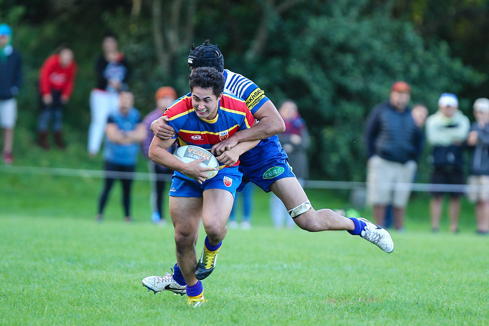 Premier division rugby union game played between Northern United  (Norths) v Tawa  at  Lyndhurst Park, Tawa  New Zealand, on 15 April 2017.  Game won 24-17 by Tawa.