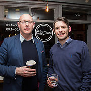 13.03.2017<br /> Canteen, Mallow street hosted The Steam of a Perfect Coffee an investiaftion into STEAM (Science, Technology, Engineering, Art and Mathematics) of the perfect cup of Coffee. <br /> Pictured at the event were, Michael O'Connor and Conor Naughtan.<br /> Picture: Alan Place
