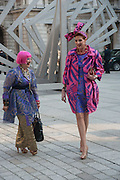 ZANDRA RHODES, Celebration of the Arts. Royal Academy. Piccadilly. London. 23 May 2012.