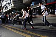 20181203/ Nicolas Celaya - adhocFOTOS/ URUGUAY/ MONTEVIDEO/ CENTRO/ 7 Marcha por la Accesibilidad por el centro, Montevideo.<br /> En la foto: 7 Marcha por la Accesibilidad por el centro, Montevideo. Foto: Nicol&aacute;s Celaya /adhocFOTOS