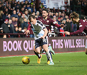 Dundee&rsquo;s Paul McGowan and Hearts&rsquo; Miguel Pallardo - Hearts v Dundee - SPFL Premiership at Tynecastle<br /> <br />  - &copy; David Young - www.davidyoungphoto.co.uk - email: davidyoungphoto@gmail.com