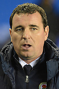 Blackburn Rovers manager Gary Bowyer during the Sky Bet Championship match between Birmingham City and Blackburn Rovers at St Andrews, Birmingham, England on 3 November 2015. Photo by Alan Franklin.