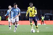Dan Agyei (23) of Oxford United on the ball during the EFL Cup match between Oxford United and Manchester City at the Kassam Stadium, Oxford, England on 18 December 2019.