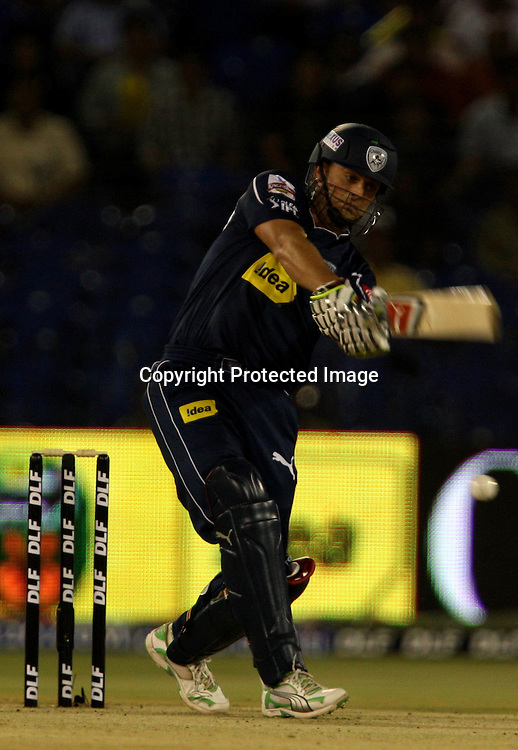 Deccan Chargers Batsman Adam Gilchrist Hit The Shot Against Kings XI Punjab During The DLF IPL-3 Twenty-20 Played at- Barabati Stadium , Cuttack 19 March 2010 Day/night