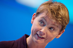 © London News Pictures. 22/09/2013 . Brighton, UK.  Shadow Minister for Women and Equalities, Yvette Cooper speaking on Day one of the 2013 Labour Party Annual Conference in Brighton, East Sussex. Photo credit : Ben Cawthra/LNP