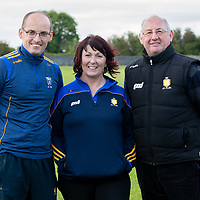 Keith Hennessy Strenght and Conditioning, Rosie Monahan Physio and John O'Sullivan Logistics from the Clare Minor Hurling Backroom Team
