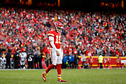 Kansas City Chiefs quarterback Patrick Mahomes (15) during an NFL football game against the Oakland Raiders in Kansas City, Mo., Sunday, Dec. 30, 2018.  (AP Photo/Colin E. Braley)