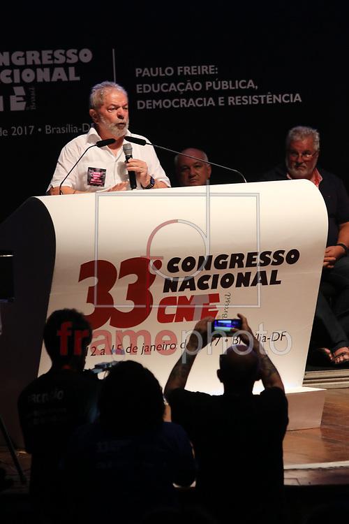 Ex Presidente Lula , durante abertura do 33 Congresso da CNTE, no Centro de Convencoes, nesta quinta feira 12/01/2017. Foto: Joel Rodrigues/ FramePhoto