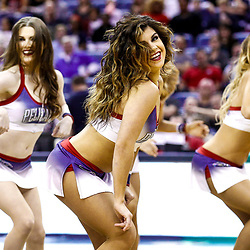 Feb 6, 2017; New Orleans, LA, USA; New Orleans Pelicans dance team performs during the second quarter of a game against the Phoenix Suns at the Smoothie King Center. Mandatory Credit: Derick E. Hingle-USA TODAY Sports