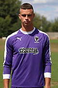 AFC Wimbledon goalkeeper Nicola Tzanev (25) during the AFC Wimbledon 2018/19 official photocall at the Kings Sports Ground, New Malden, United Kingdom on 31 July 2018. Picture by Matthew Redman.