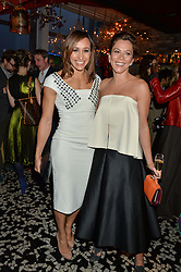 Left to right, JESSICA ENNIS-HILL and ANNA FRIEL at the OMEGA 100 days to Rio Olympics VIP Dinner at Sushi Samba, Heron Tower, 110 Bishopsgate, City of London on 27th April 2016.