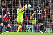 Artur Boruc (1) of AFC Bournemouth claims the ball during the EFL Cup 4th round match between Bournemouth and Norwich City at the Vitality Stadium, Bournemouth, England on 30 October 2018.