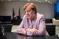 20 MAR 2017, BERLIN/GERMANY:<br /> Angela Merkel, CDU, Bundeskanzlerin, waehrend einem Interview, in ihrem Buero, Bundeskanzleramt<br /> IMAGE: 20170320-01-007<br /> KEYWORDS: B&uuml;ro