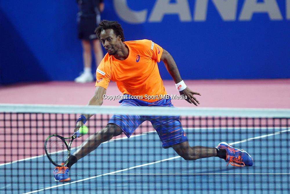 GAEL MONFILS - 06.02.2015 - Tennis - Open Sud de France- Montpellier<br /> Photo : Andre Delon / Icon Sport