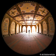 April 7~9, 2014  •  New York City (Manhattan)  •  taken with Leica M-240 digital camera with Canon 8~15mm f4 lens (at f4)  •  tunnel from The Mall under Terrace Drive to the lower level Bethesda Terrace/Fountain in Central Park
