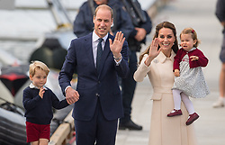 File photo dated 01/10/2016 of The Duke and Duchess of Cambridge, Prince George and Princess Charlotte as the royal couple will be waiting on tenterhooks to see if their new baby is a boy or a girl Ð as they do not know their childÕs gender.
