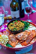 Salmon, couscous,