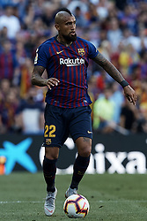 September 29, 2018 - Barcelona, Barcelona, Spain - Arturo Vidal of FC Barcelona in action during the La Liga match between FC Barcelona and Athletic Club de Bilbao at Camp Nou on September 29, 2018 in Barcelona, Spain  (Credit Image: © David Aliaga/NurPhoto/ZUMA Press)