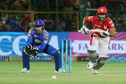 May 8, 2018 - Jaipur, Rajasthan, India - Kings XI Punjab team batsman Karun Nair plays a shot during the IPL T20 match against Rajasthan Royals at Sawai Mansingh Stadium in Jaipur,Rajasthan,India on 8th May,2018.(Photo By Vishal Bhatnagar/NurPhoto) (Credit Image: © Vishal Bhatnagar/NurPhoto via ZUMA Press)