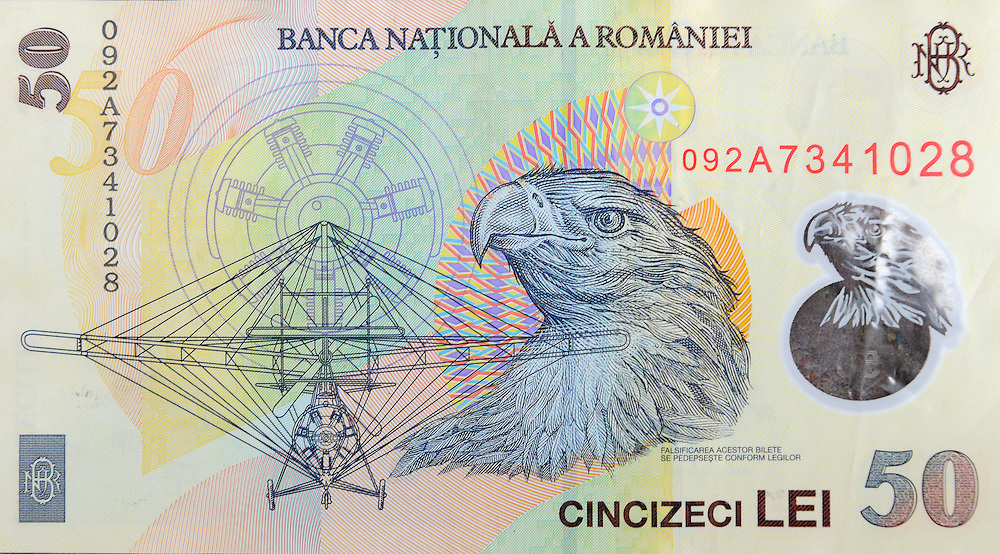 Romanian 50 lei bill, from 2011
