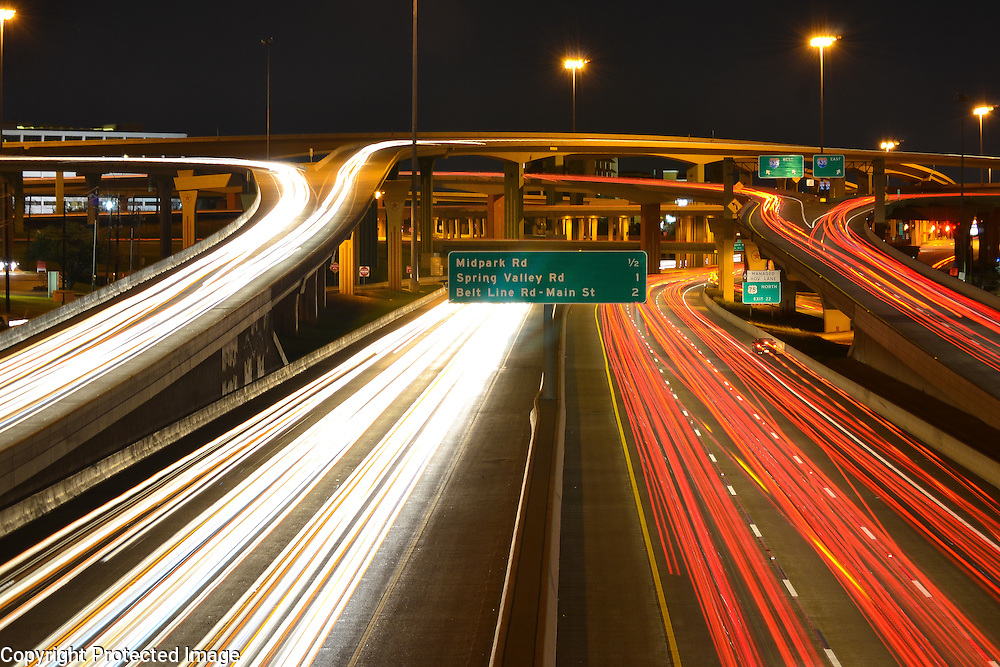 """""""High 5"""", aka the intersection of LBJ Freeway and I-75 in North Dallas"""