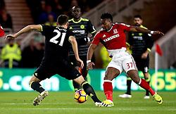 Adama Traore of Middlesbrough takes on Nemanja Matic of Chelsea - Mandatory by-line: Robbie Stephenson/JMP - 20/11/2016 - FOOTBALL - Riverside Stadium - Middlesbrough, England - Middlesbrough v Chelsea - Premier League