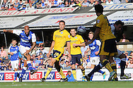 Picture by Richard Calver/Focus Images Ltd +447792 981244<br /> 28/09/2013<br /> David McGoldrick of Ipswich Town scores the opening goal of the match against Brighton and Hove Albion during the Sky Bet Championship match at Portman Road, Ipswich.