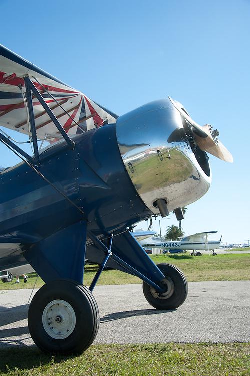 Small plane on runway