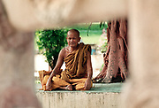 Monk at the Mahabodhi Temple in Bhod Gaya