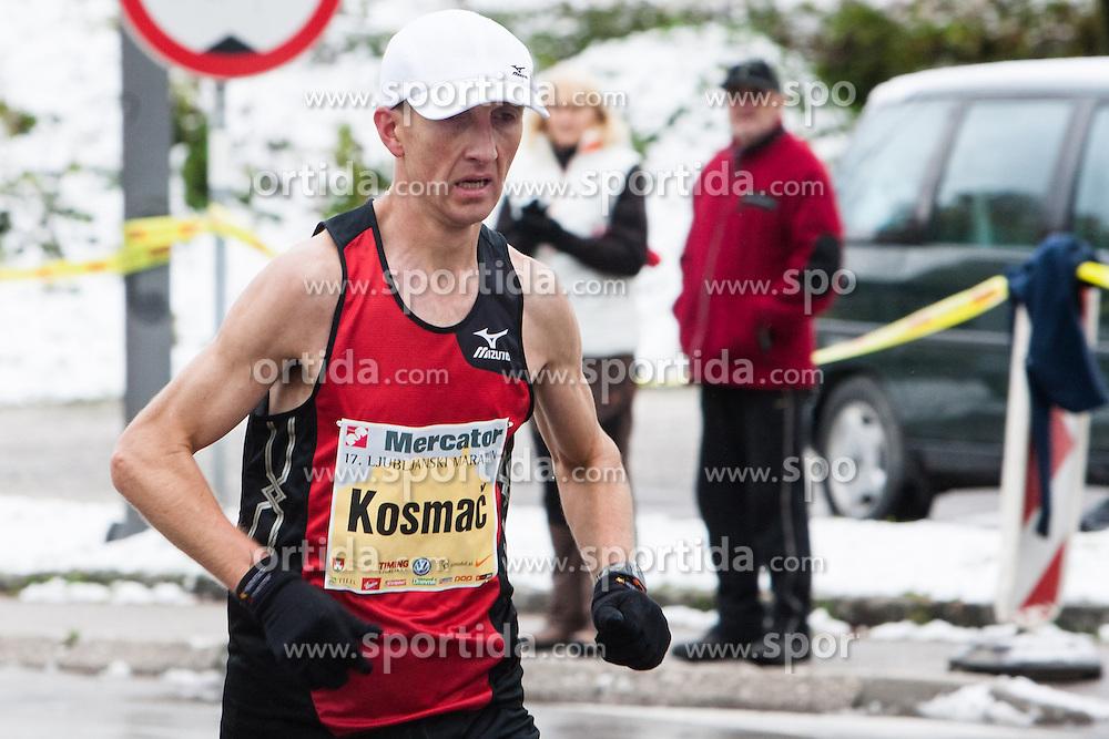 Anton Kosmac of Slovenia at 17th Ljubljana Marathon 2012 on October 28, 2012 in Ljubljana, Slovenia. (Photo By Matic Klansek Velej / Sportida.com)