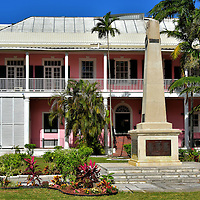 Garden of Remembrance and Supreme Court in Nassau, Bahamas <br />