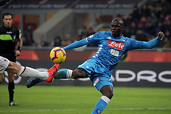 January 26, 2019 - Milan, Milan, Italy - Kalidou Koulibaly #26 of SSC Napoli in action during the serie A match between AC Milan and SSC Napoli at Stadio Giuseppe Meazza on January 26, 2018 in Milan, Italy. (Credit Image: © Giuseppe Cottini/NurPhoto via ZUMA Press)