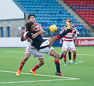 Dundee&rsquo;s Yordi Teijsse comes close with and overhead kick during Dundee v Hamilton Academical 20s in the SPFL Development League at Links Park, Montrose. Photo: David Young<br /> <br />  - &copy; David Young - www.davidyoungphoto.co.uk - email: davidyoungphoto@gmail.com