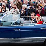 NLD/Apeldoorn/20130105 - Huwelijk prins Jaime en prinses Viktoria Cservenyak, aankomst prinses Irene en prins Jaime