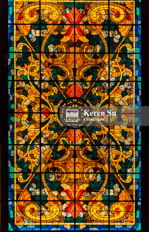 Stained glass, Morelia, Mexico