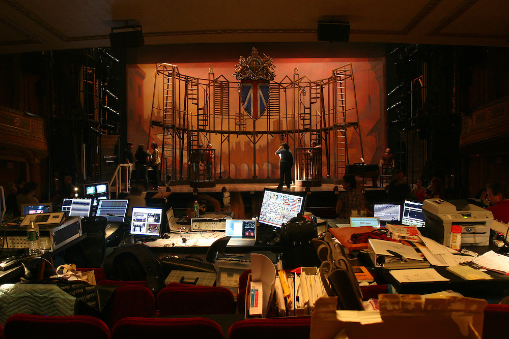 A Tale of Two Cities, Hirschfeld Theatre NYC - Tech.  Photo © Michael Gottlieb