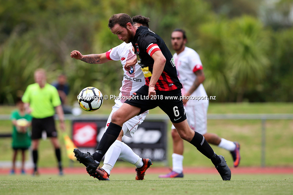 Canterbury's Garry Ogilvie on the move. ISPS Handa Premiership, Waitakere United v Canterbury United Dragons, Trusts Stadium, Auckland, Sunday 14th January 2018. Copyright Photo: David Joseph
