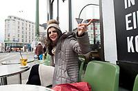 04 JAN 2012, BERLIN/GERMANY:<br /> Shermin Voshmgir, Filmemacherin und Gruenderin des Start-ups cinovu.com, Cafe Oberholz, Rosenthaler Platz<br /> IMAGE: 20120104-01-010