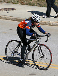 Becca Blatt in the Women's B race at the 2006 Navy Criterium held in Annapolis, Maryland.