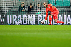 Vid Belec of Slovenia during football match between National Teams of Slovenia and Cyprus in Final Tournament of UEFA Nations League 2019, on October 16, 2018 in SRC Stozice, Ljubljana, Slovenia. Photo by  Morgan Kristan / Sportida